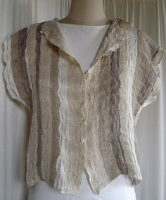 Handwoven Linen and Silk Jacket by riverweavestudio on Etsy