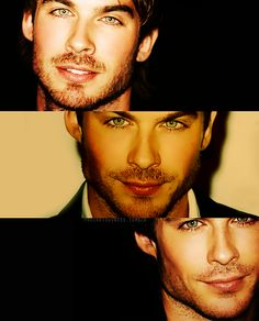 Ian Somerhalder, eyes and lips.