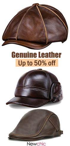 69642d3e023  Buy Now Men s Genuine Leather Cap  cap  leather Mens Leather Hats