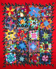 Bumble Beans Inc.: Blogger's Quilt Festival Love the craziness of this quilt..and seeing the process.