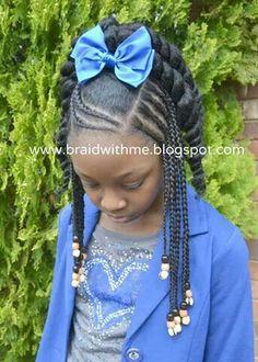 Little Girl Braids, Black Girl Braids, Braids For Kids, Girls Braids, Lil Girl Hairstyles, Girls Natural Hairstyles, Natural Hairstyles For Kids, Braided Hairstyles, Nice Hairstyles