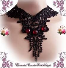 irish crochet lace choker - Google Search