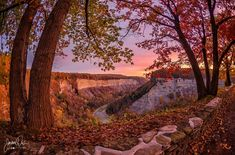 A fall's early morning sunrise in the gorge, courtesy Photography by Davis.