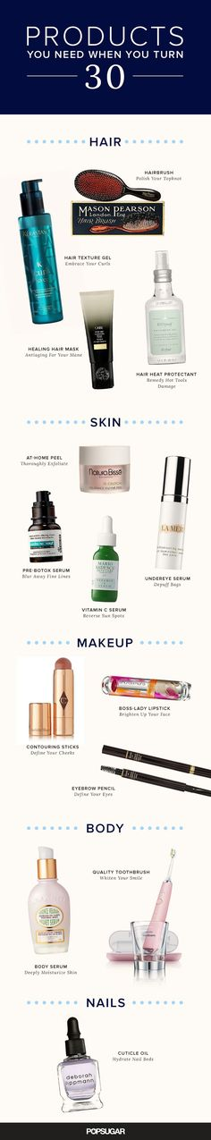 Turning 30? Here are all the beauty products you need to be using to look young and fabulous.