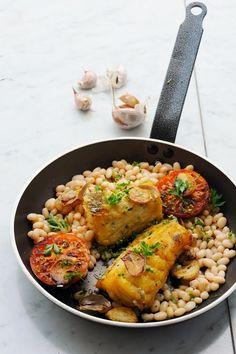 Mais pourquoi est-ce que je vous raconte ça... Dorian cuisine.com: Petit plaisir égoïste en compagnie d'une morue… Morue à la llauna au menu ! CM#30 Tome 6