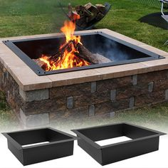 Visit Serenity Health to find the ideal DIY fire pit liner. The Sunnydaze Square Heavy-Duty Fire Pit Liner is just what you need. Fire Pit Bowl, Fire Pit Area, Diy Fire Pit, Fire Pit Backyard, Backyard Seating, Backyard Landscaping, Fire Pit Pergola, Cheap Fire Pit, Landscaping Ideas