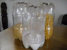 Reciclado: potes con botellas de plastico | Aprender manualidades es facilisimo.com