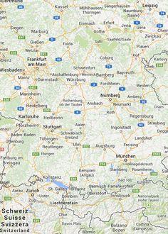 Landkarte Bayern Karte von Bayern mit Strassenverzeichnis und Satellitenperspektive Bamberg