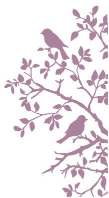 Birds on Branch Silhouette by Crafty Individuals Unmounted Rubber Stamp from Magenta Silhouette Projects, Silhouette Design, Bird Silhouette, Silhouette Cameo Files, Silhouette Studio, Kirigami, Silhouettes, Stencils, Bird On Branch