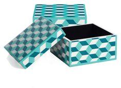 Geo Cube Box - Aquamarine | Jewelry-boxes | Accessories | Decor | Z Gallerie