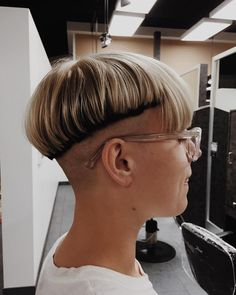We have to assume this haircut is still in progress as the weight line and bangs are far too uneven for this to be a finished cut....