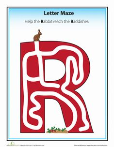 Work your way through these alphabet letter mazes with your preschooler to help her learn her ABC's.