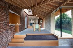Oliver Chapman Architects has added a garden room to an Edinburgh home, Flitch House, combining an Arts and Crafts approach with smart-home technologies. Garden Room Extensions, House Extensions, Architecture Today, Architecture Details, Brick Architecture, Interior Architecture, Arts And Crafts House, Home Crafts, Timber Roof