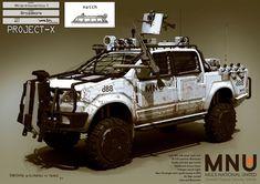 Boceto Sector 9  Camioneta Armada Hilux