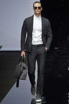 Emporio Armani Men's RTW Spring 2015 - Slideshow  Like bag and shoes.