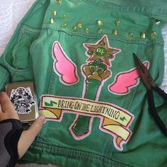 Awesome idea for Biker Jupiter Sailor Moon Tumblr, Sailor Moon Art, Sailor Moon Aesthetic, Battle Jacket, Sailor Scouts, Girl Gang, Kawaii Fashion, Up Girl, Magical Girl