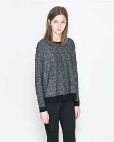 ZARA - WOMAN - SWEATER WITH PIPING