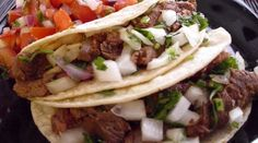 Grilled Steak Tacos! (serves 3-4 at 2 tacos apiece)