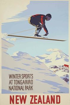 Vintage Tongariro National Poster