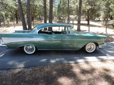 This 1957 Chevrolet Bel Air Sport Coupe was cosmetically restored in 2000 by a previous owner in Virginia. It is powered by a 283ci TurboFire V8 paired to a two-speed Powerglide. Since acquiring it in 2013 the seller has replaced the frame, fuel and brake components, added power brakes, and refurbis