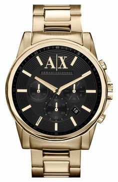 83bbc1d1f46 AX Armani Exchange  Active  Chronograph Bracelet Watch available at   Nordstrom Relógios Masculinos