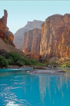 Colorado River, bottom of the Grand Canyon, Arizona, USA ck Places Around The World, Oh The Places You'll Go, Places To Travel, Places To Visit, Around The Worlds, Colorado River, Nature Photos, Vacation Spots, Travel Usa