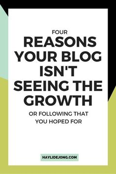 4 Reasons your blog