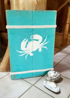 1b255a03753 Wooden Crab Sign Beachy Decor Seashore Decor by TheHappiestFish Seahorse  Crafts