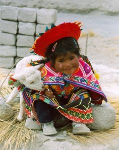 Peru'-little girl and goat | por venturidonatella