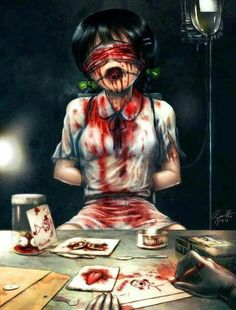756 best bloody anime pictures images in 2017 Dark Anime, Real Anime, Arte Horror, Horror Art, Creepypasta, Yandere, Creepy Cute, Scary, Creepy Pics
