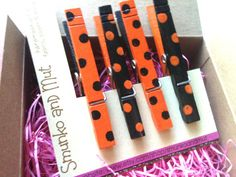 Small Gift Ideas  Fridge Clothespin Magnets 4  by smunkoandmut, $5.00