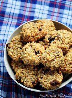 Ciasteczka owsiane z żurawiną bez jajek bez nabiału bez mąki bez tłuszczu bez cukru, fit oat cookies, dietetyczne ciastka owsiane, oat cookies no diary no sugar no flour no eggs