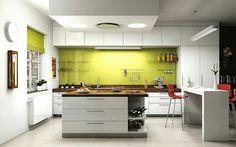 Inspirace... Bílo-žlutá kuchyně