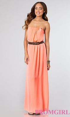 Long Strapless Casual Dress at PromGirl.comhttp://www.promgirl.com/shop/dresses/viewitem-PD1243974