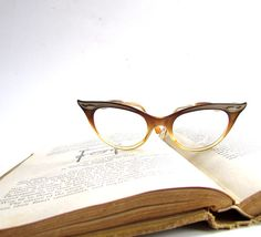13802904454 Vintage Cateye Glasses Plastic Bausch and Lomb by ArtfulVintage