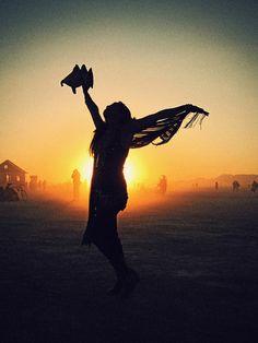 free spirit at sunset - Burning Man 2010 - More pics at http://iso50.com/burn/ (Awesome, Vicky-Thx)