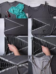 DIY: Kleid aus T-Shirt machen - ohne Nähen