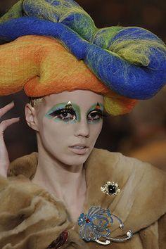 Life in thr circus has always left the clowns sad...  john galliano 2008