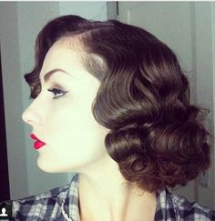Pinup hairstyles So wish I vould get my hair like this. its beautiful