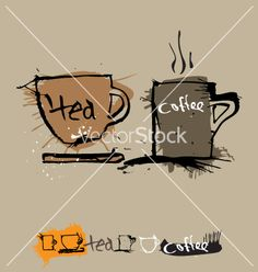 Like this in a small print 4x6//Free ink coffee cup vector