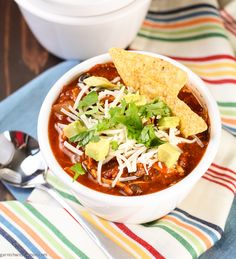 Slow Cooker Chicken Tortilla Soup is an easy weeknight dinner with minimal prep and minimal mess. What could be better?