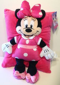 Amazon.com - Disney Minnie Bow Plush Character Pillow -