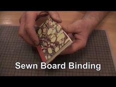 Easy Bookbinding: Sewn Board Binding - YouTube