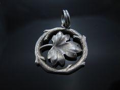 Vintage Sterling Silver Maple Leaf Charm Pendant