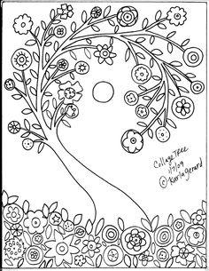 Rug Hook Crafts Paper Pattern Collage Tree Folk Art Abstract Primitive Karla G   eBay