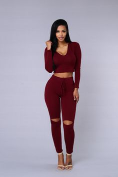 "- Available in Heather Grey, Light Denim, Charcoal and Burgundy - Pair with ""International Lover Leggings"" - Cropped Length - Long Sleeve - Scoop Neck - Hooded - Made in USA - 48% Rayon 48% Polyester"