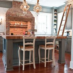 traditional kitchen by Ironwood Cabinet Design, in a house built in 1790!