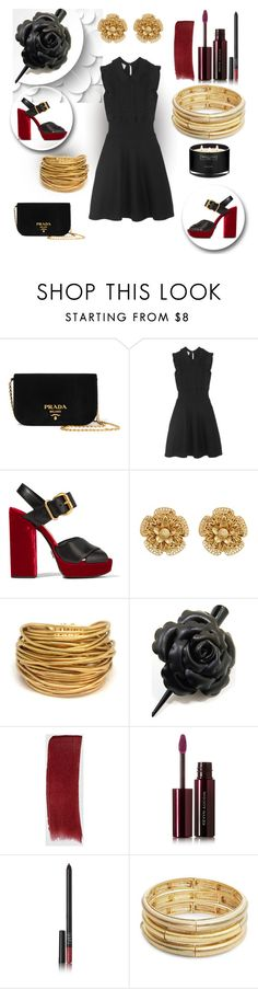 """lbd"" by art-gives-me-life ❤ liked on Polyvore featuring Michael Kors, Prada, Miriam Haskell, Black & Sigi, Gucci, Kevyn Aucoin, NARS Cosmetics, Nanette Lepore, The White Company and LBD"