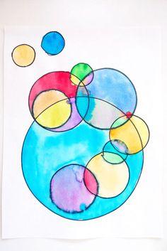 Fine Art for Kids: Circling with Kandinsky Kindergarten Art, Preschool Art, Wassily Kandinsky, Kandinsky For Kids, Circle Art, Contemporary Abstract Art, Art Classroom, Art Plastique, Art Activities