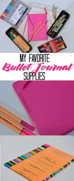 Check out a list of my current favorite bullet journal supplies as well as my wishlist. What are you favorite bullet journalling pens? What about notebook?